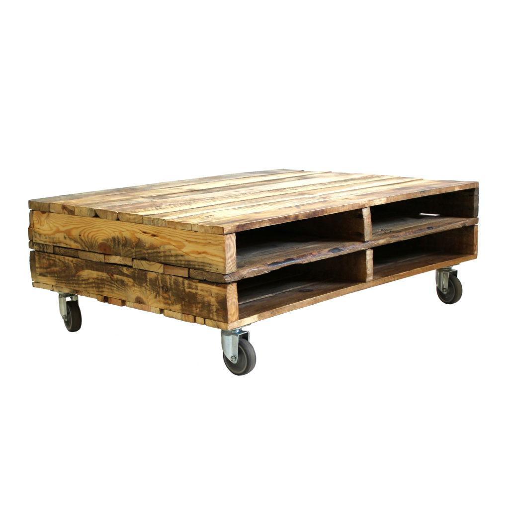 Wooden Pallet Coffee Table Wheels