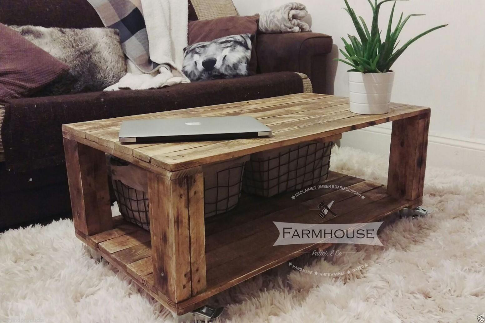 Wooden Pallet Coffee Tables Diy Table