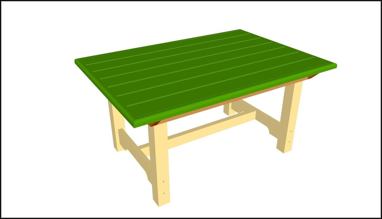 Wooden Patio Table Plans Patios Home Decorating
