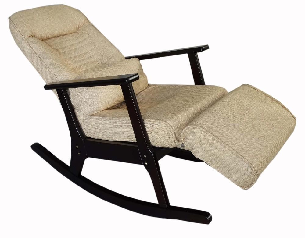Wooden Rocking Recliner Elderly People Japanese Style