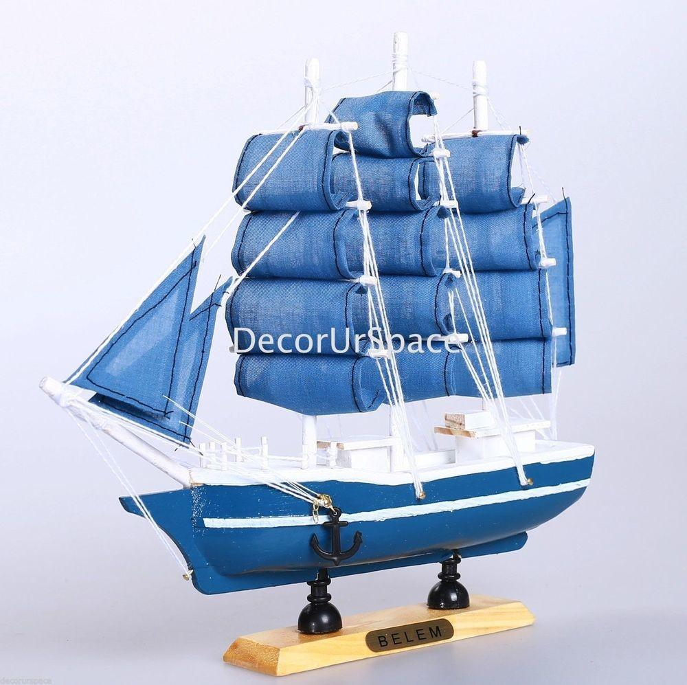 Wooden Sailing Boat Home Decoration Sailboat Table