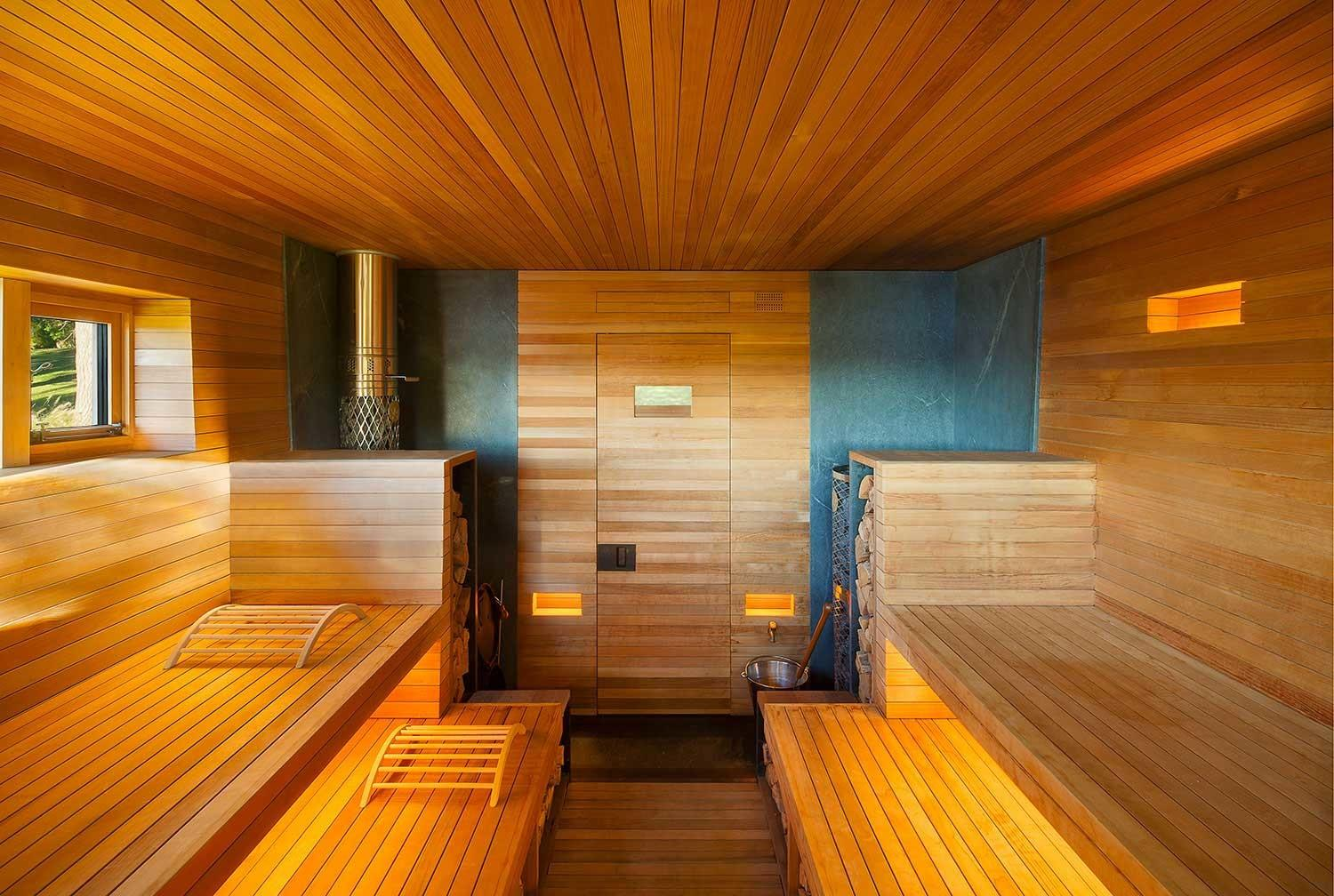 Wooden Sauna Welcomes Guests Sweat Out Stress