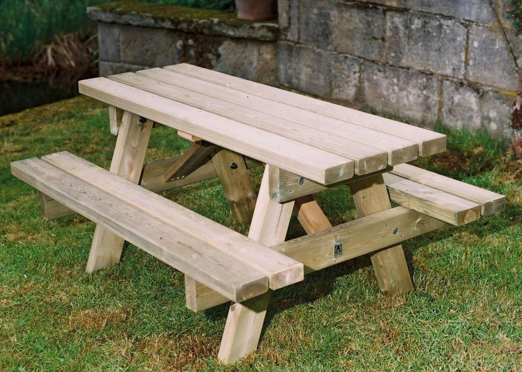 Wooden Small Picnic Table Child Duncombe Sawmill