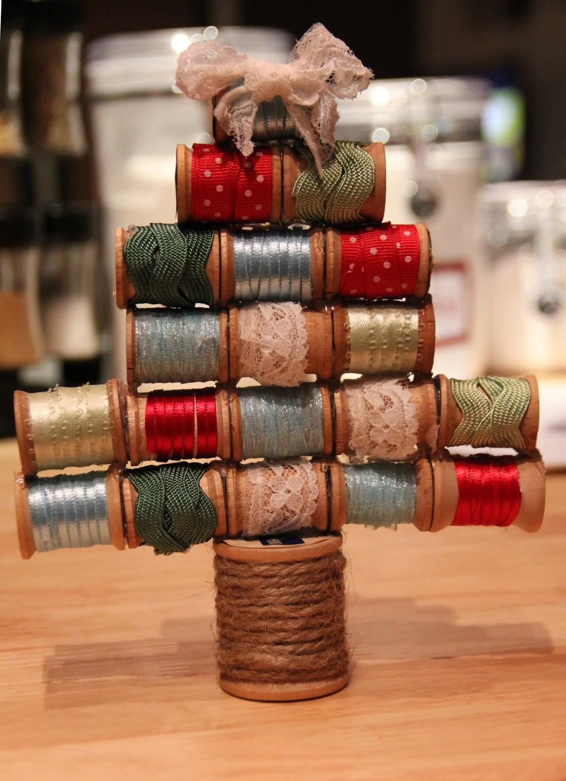 Wooden Spools Make Delightful Tree Ornaments Quilting Digest