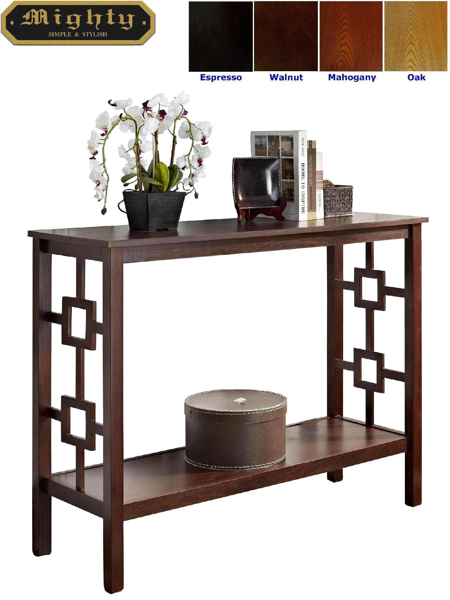 Wooden Stylish Hall Contemporary Console Foyer