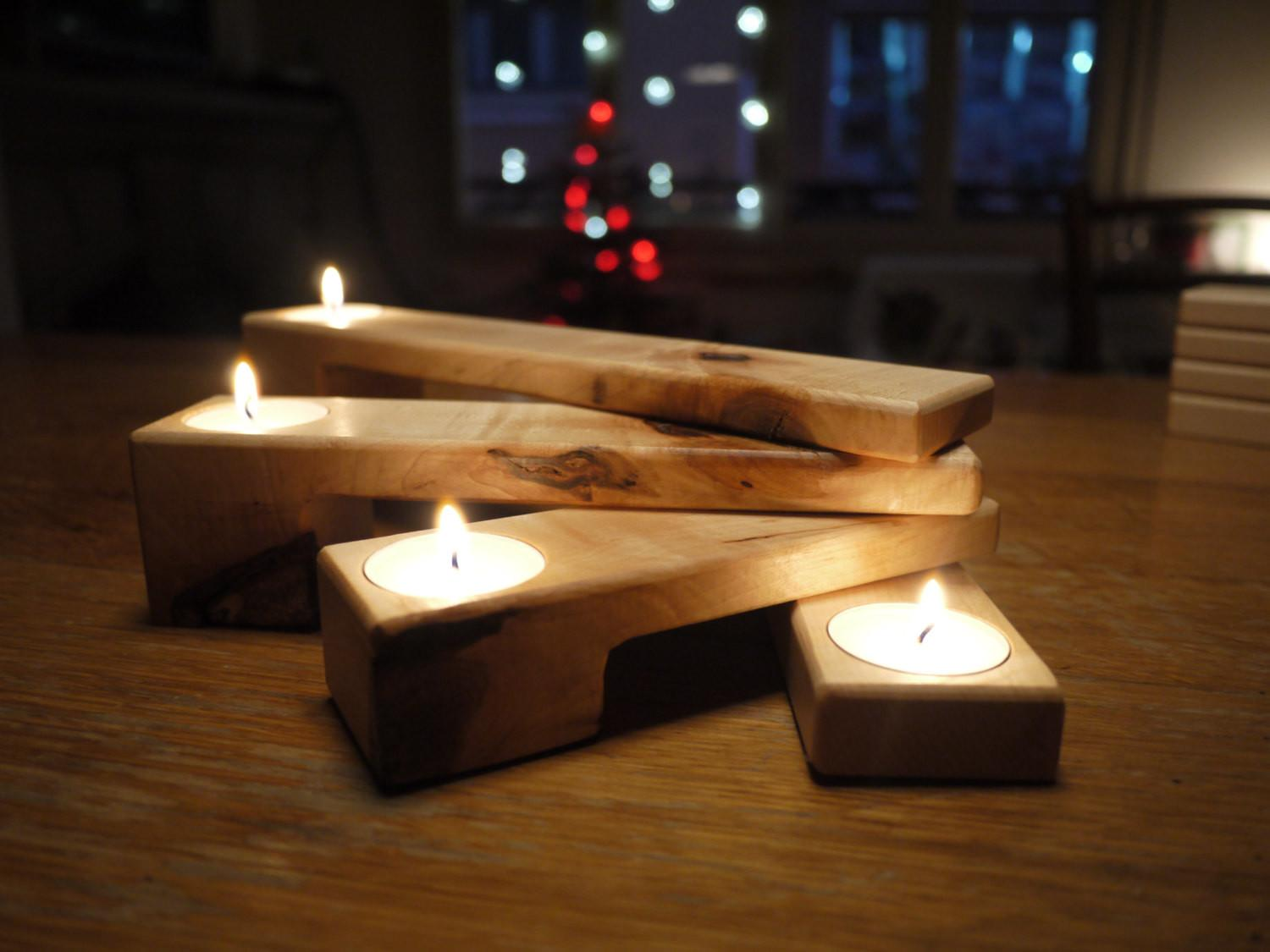 Wooden Tealight Holder Candle Folding