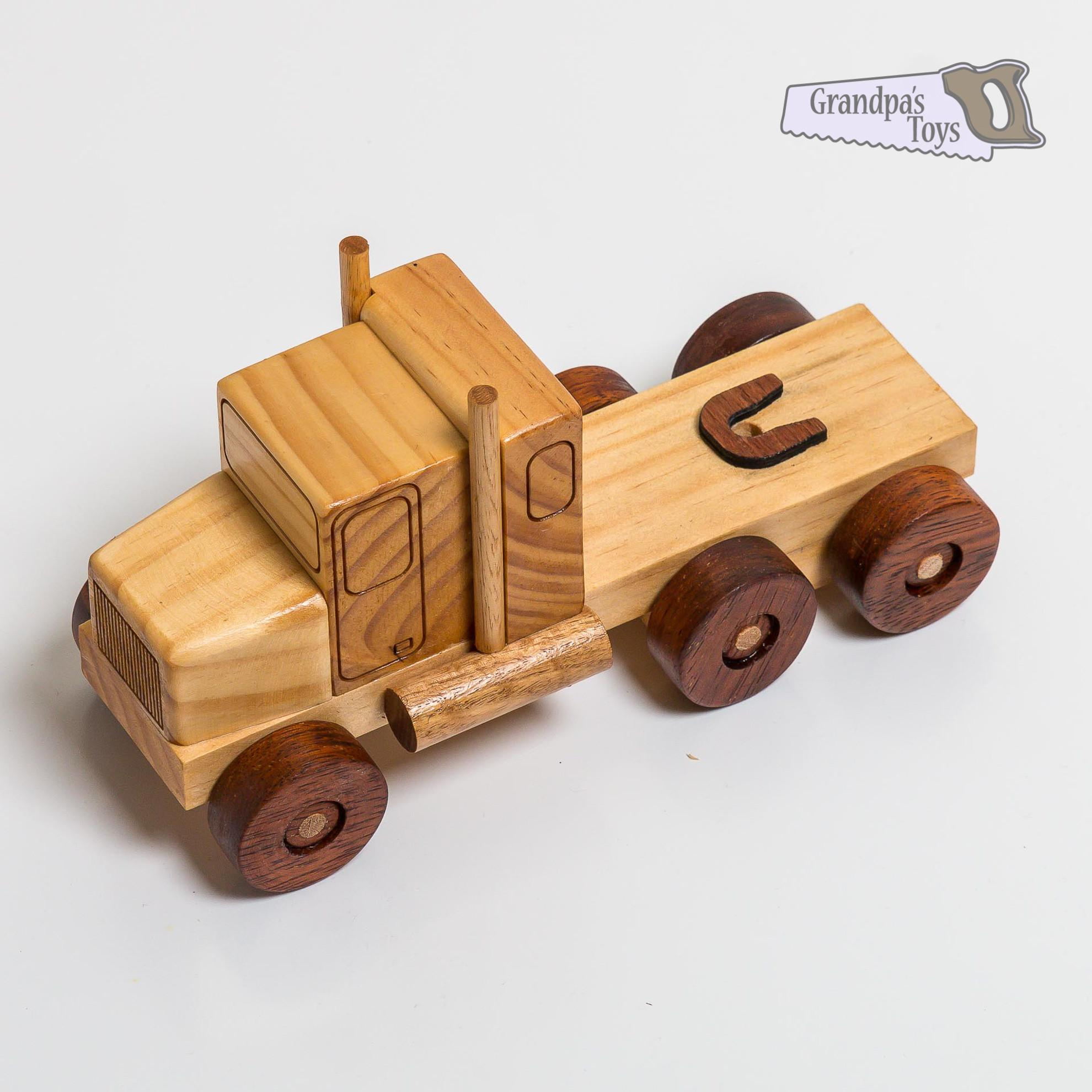 Wooden Toy Truck Prime Mover Grandpa Toys