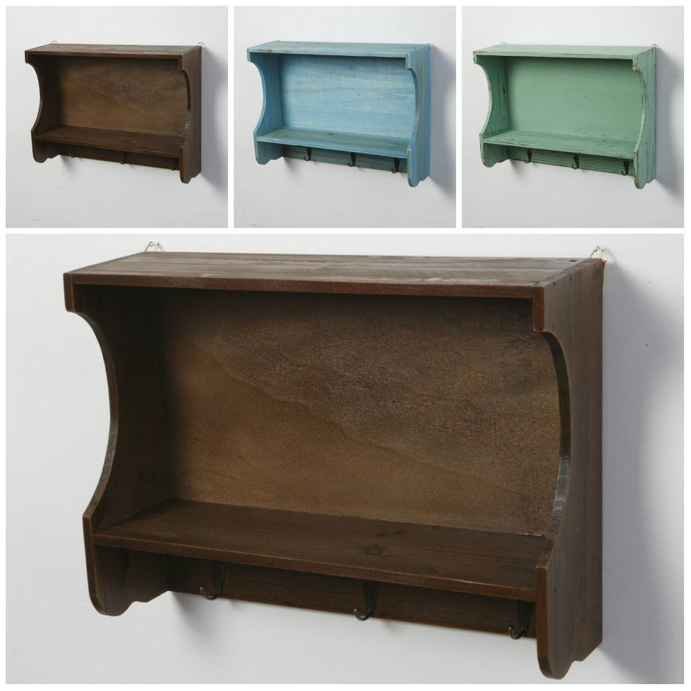 Wooden Wall Shelves Vintage Shabby Chic Distressed