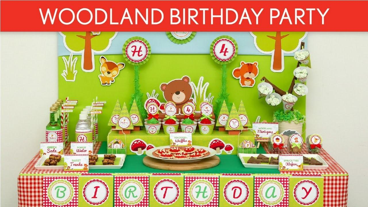 Woodland Animal Birthday Party Ideas B38
