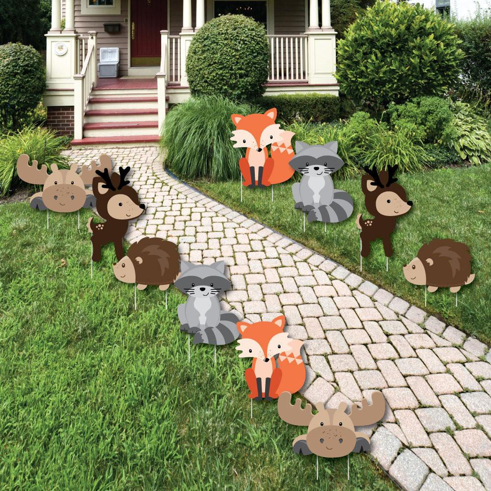 Woodland Creatures Lawn Decorations Animals