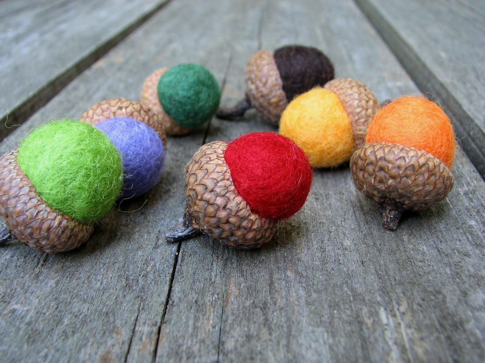 Wool Acorn Whipped Some Acorns New Colors
