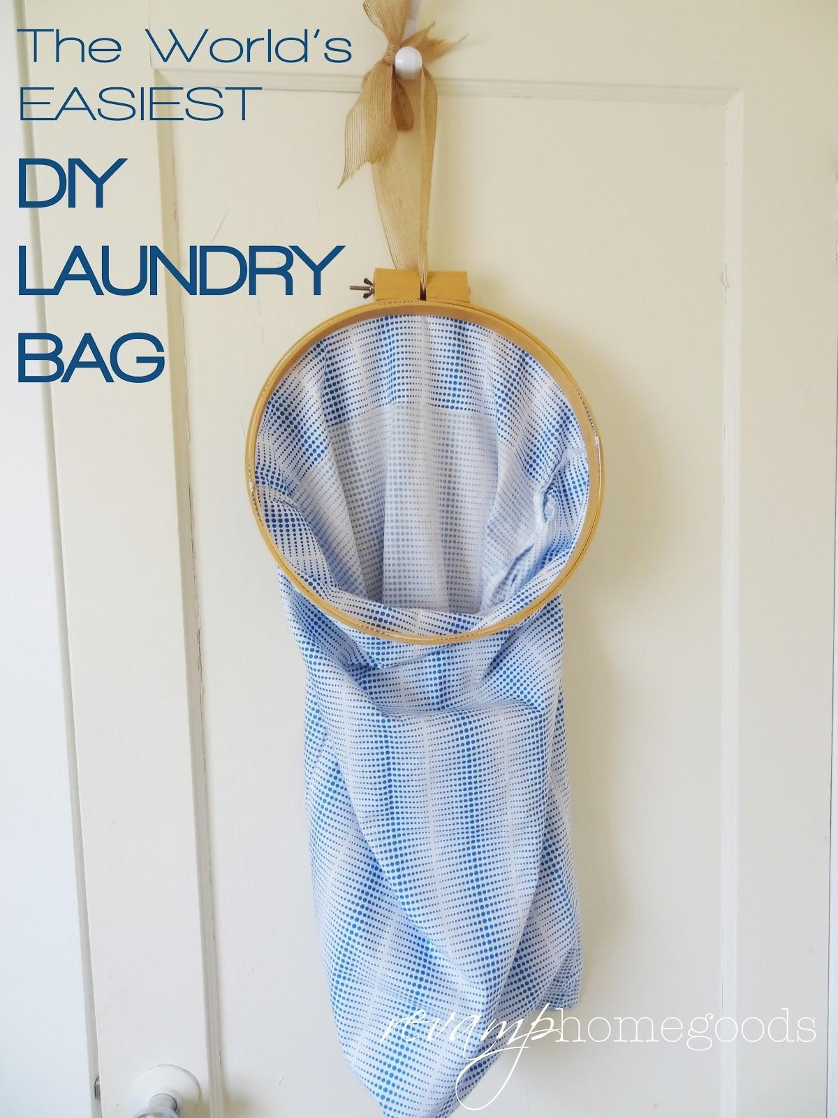 World Easiest Diy Laundry Bag Revamp Homegoods