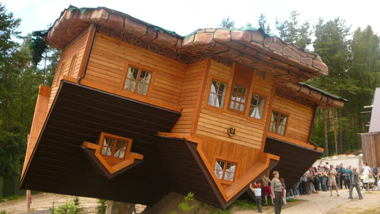 World First Upside Down House Szymbark Poland