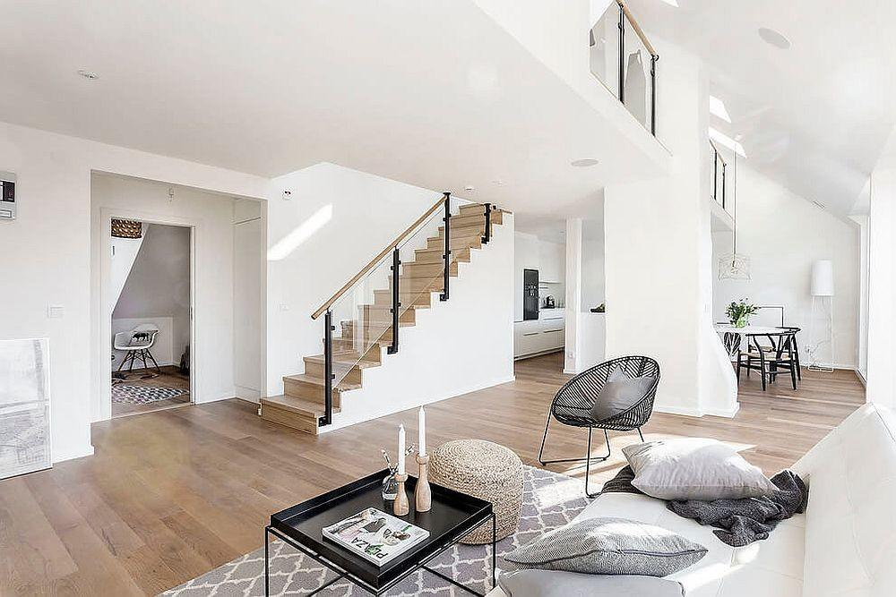 World White Gray Scandinavian Style Apartment