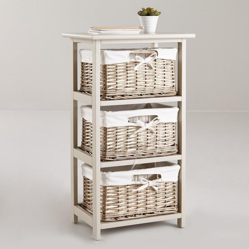 Woven Basket Drawer Units Storage Ideas