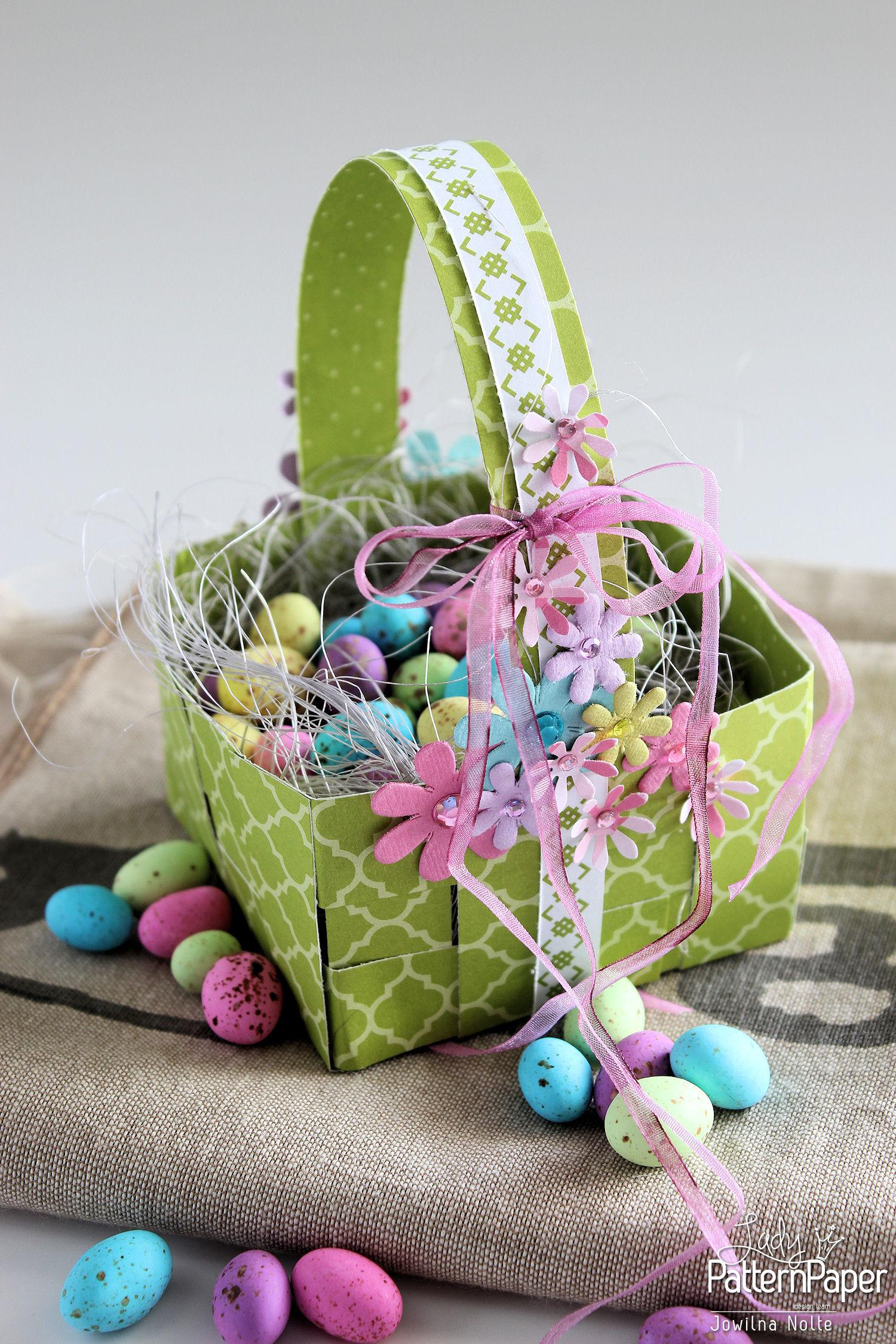 Woven Easter Basket Easy Step Lady Pattern
