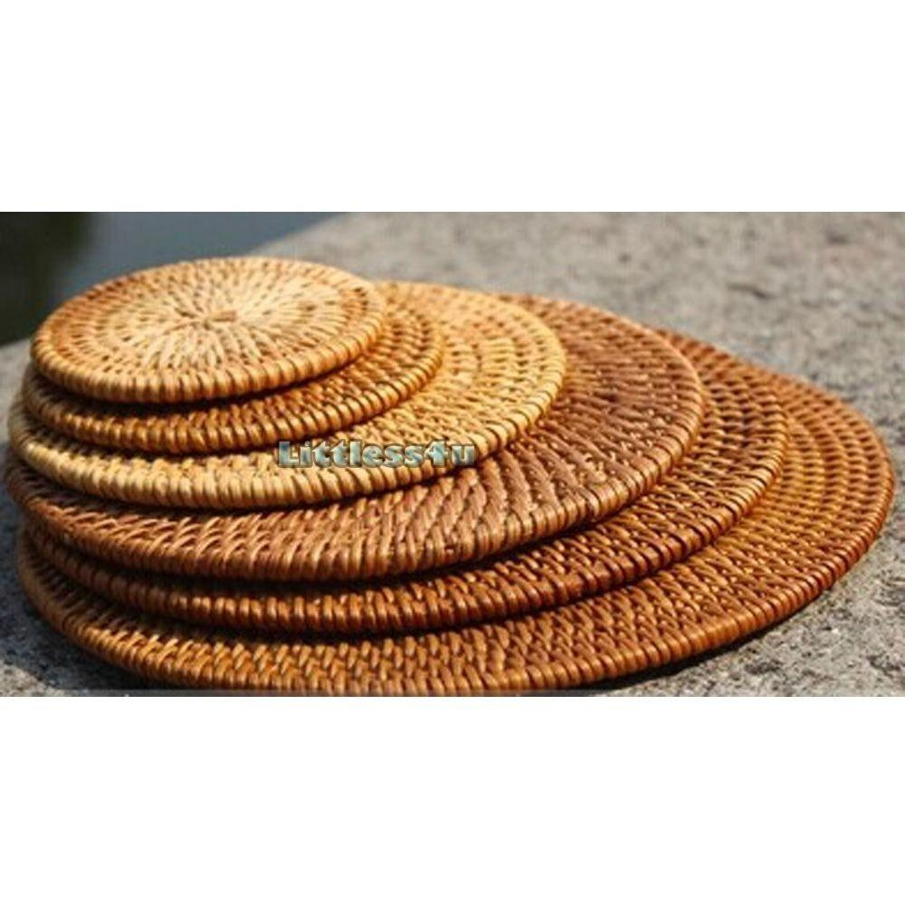 Woven Wicker Coaster Tea Pot Cup Pan Pad Trivet