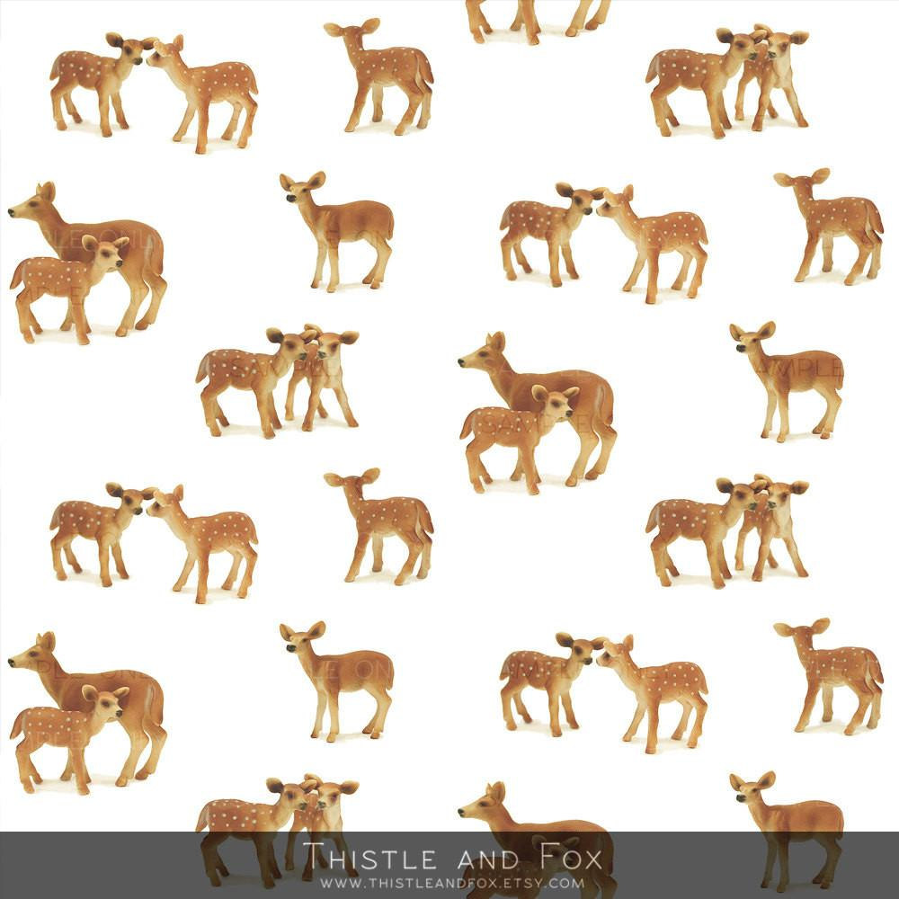 Wrapping Paper Roll Bambi Deer Fawn Caramel Brown High