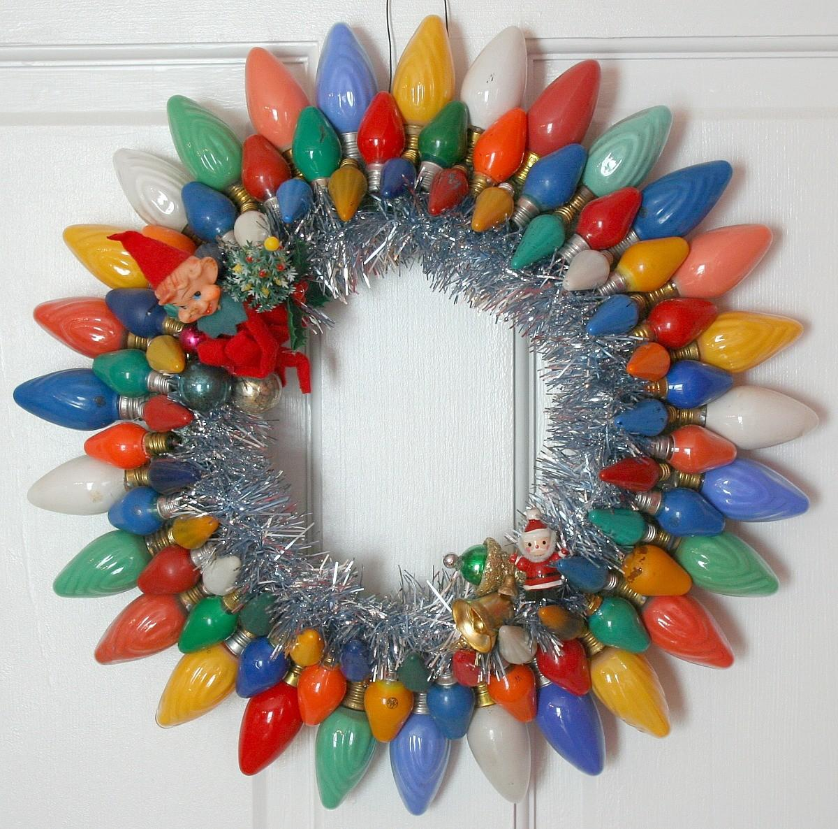 Wreath Blog Georgiapeachez Vintage Christmas Lights
