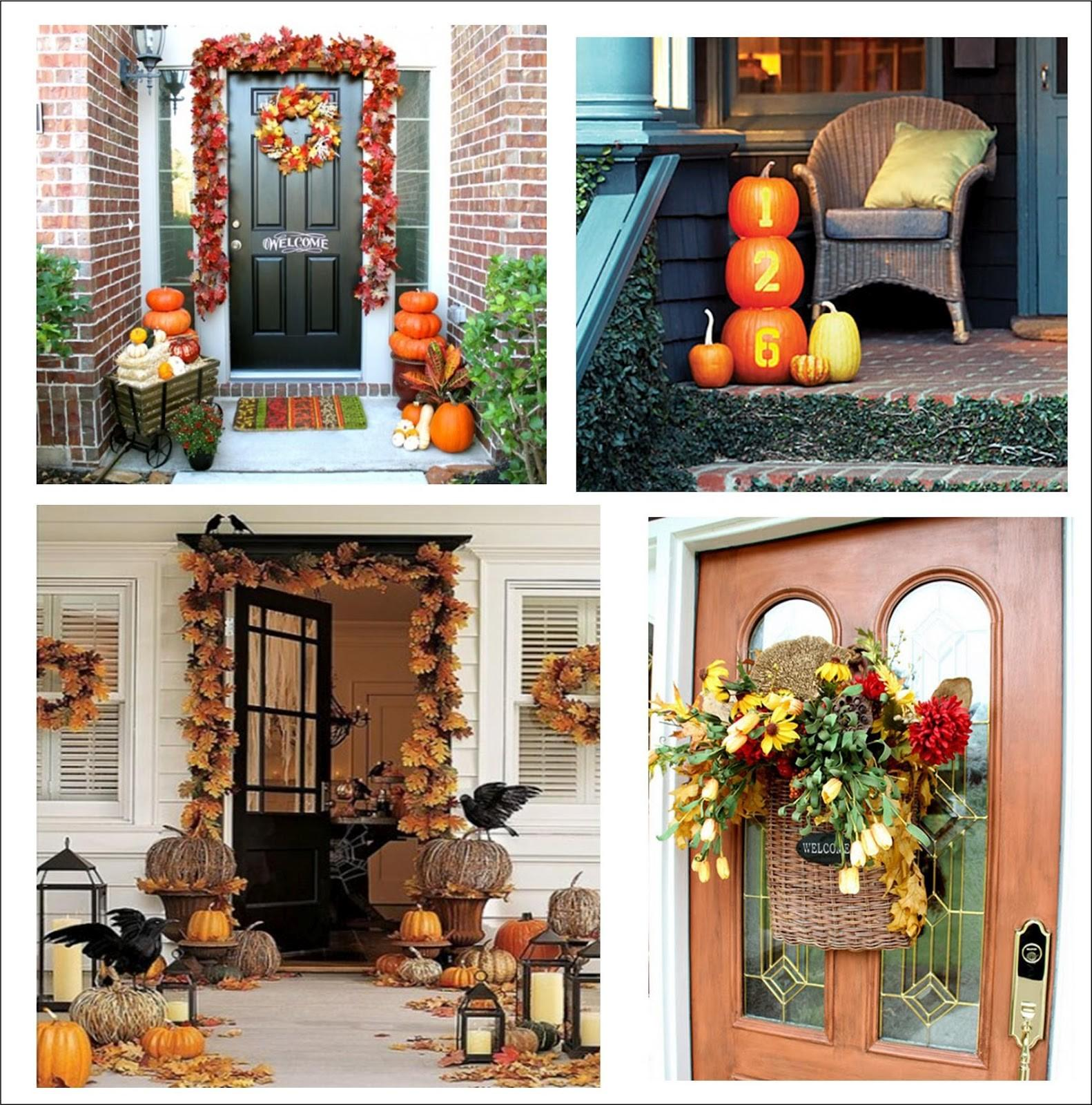 Written Wall Fall Porch Decorating Ideas