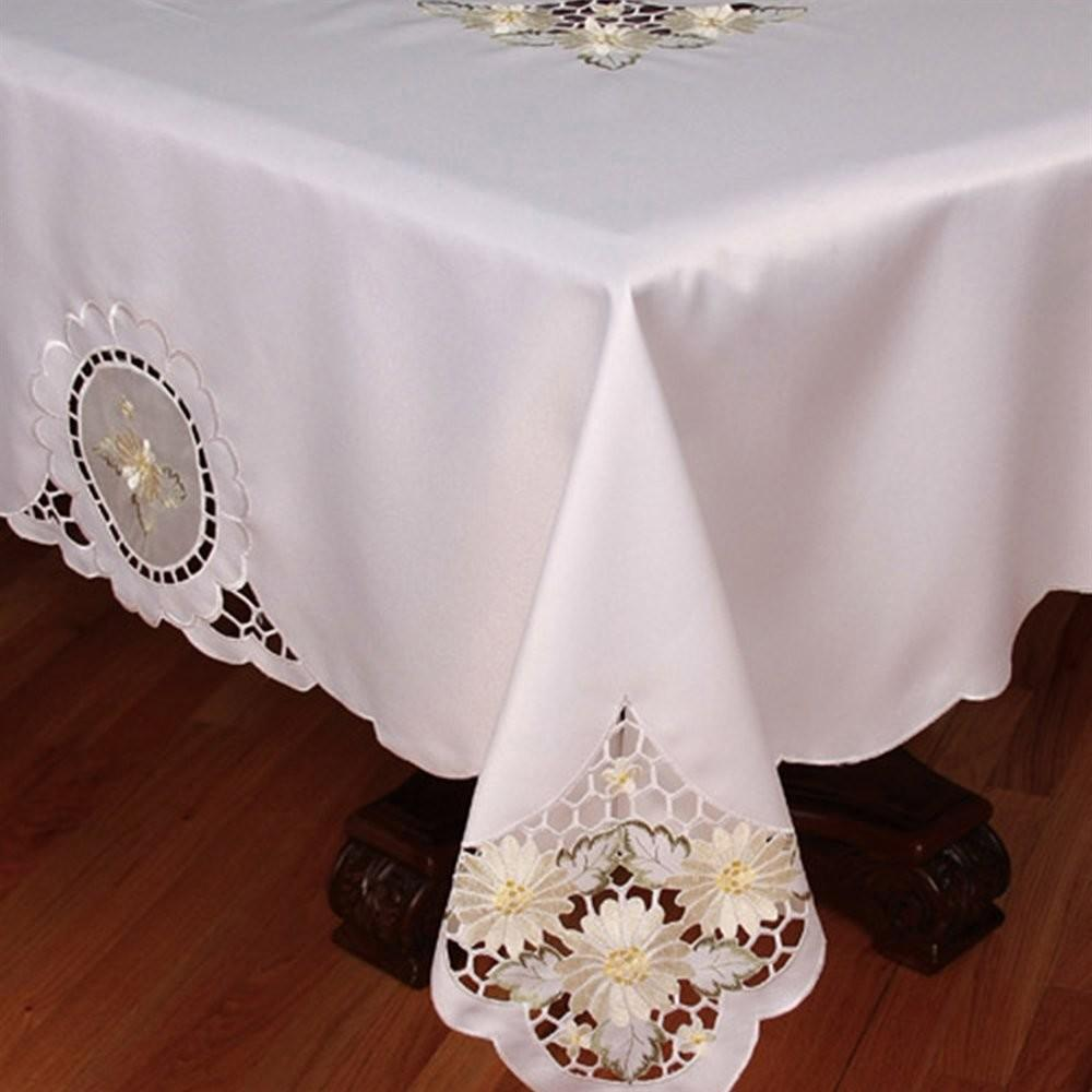 Xia Home Fashions Xd Elegant Daisy Embroidered