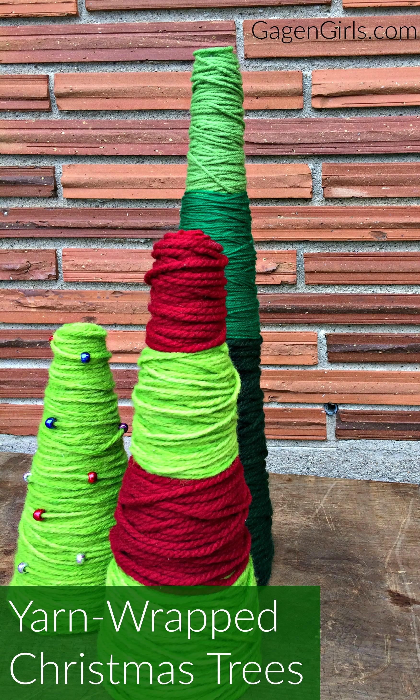 Yarn Wrapped Christmas Trees Minute Craft Lightning