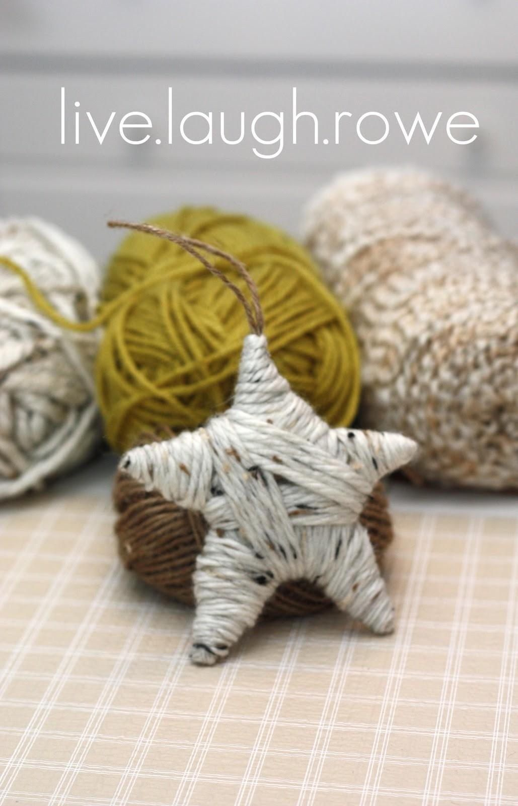 Yarn Wrapped Star Ornament Live Laugh Rowe