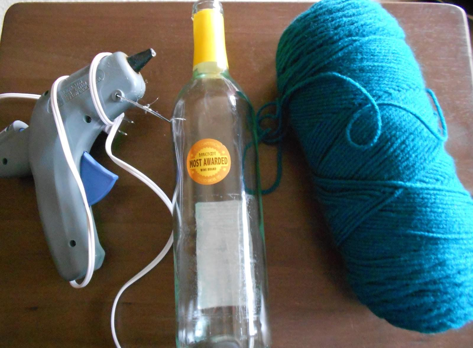 Yarn Wrapped Wine Bottle Vase Girlish Whims