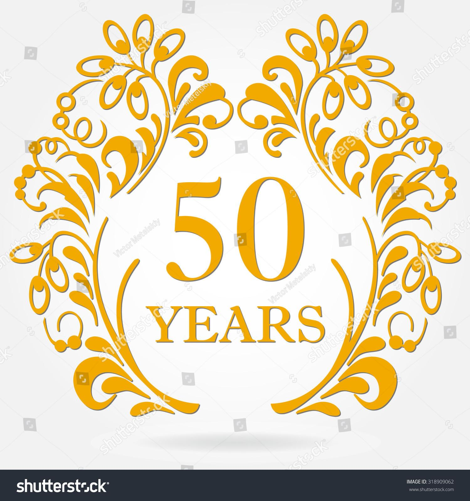 Years Anniversary Icon Ornate Frame Floral