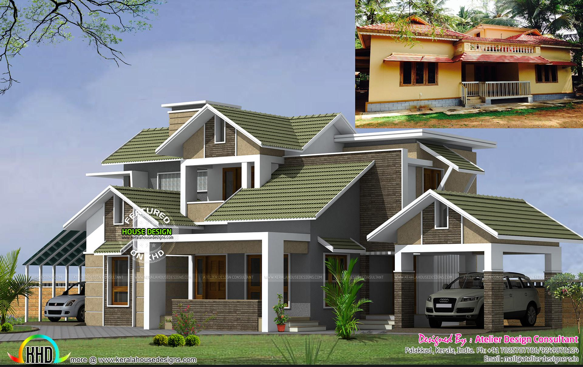 Years Old Home Turned Modern Style Kerala