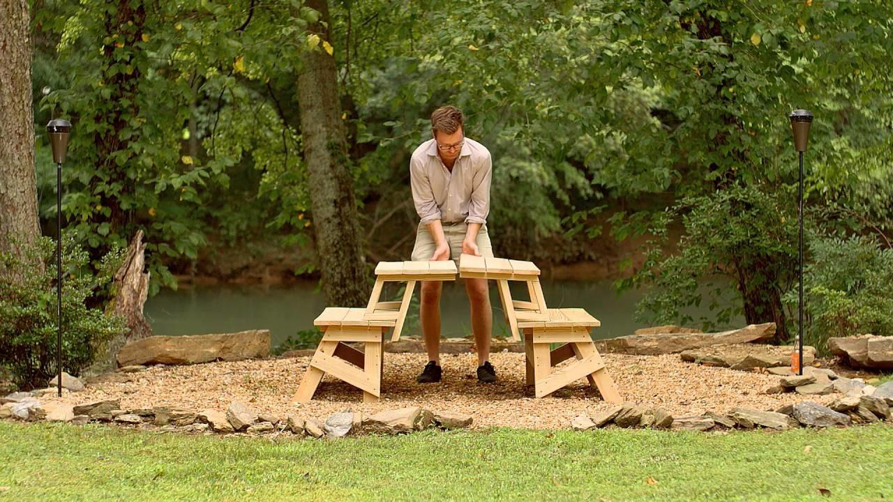 Yellawood Convertible Picnic Table Hack Video