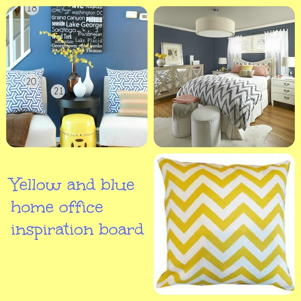 Yellow Blue Inspiration Board Momhomeguide