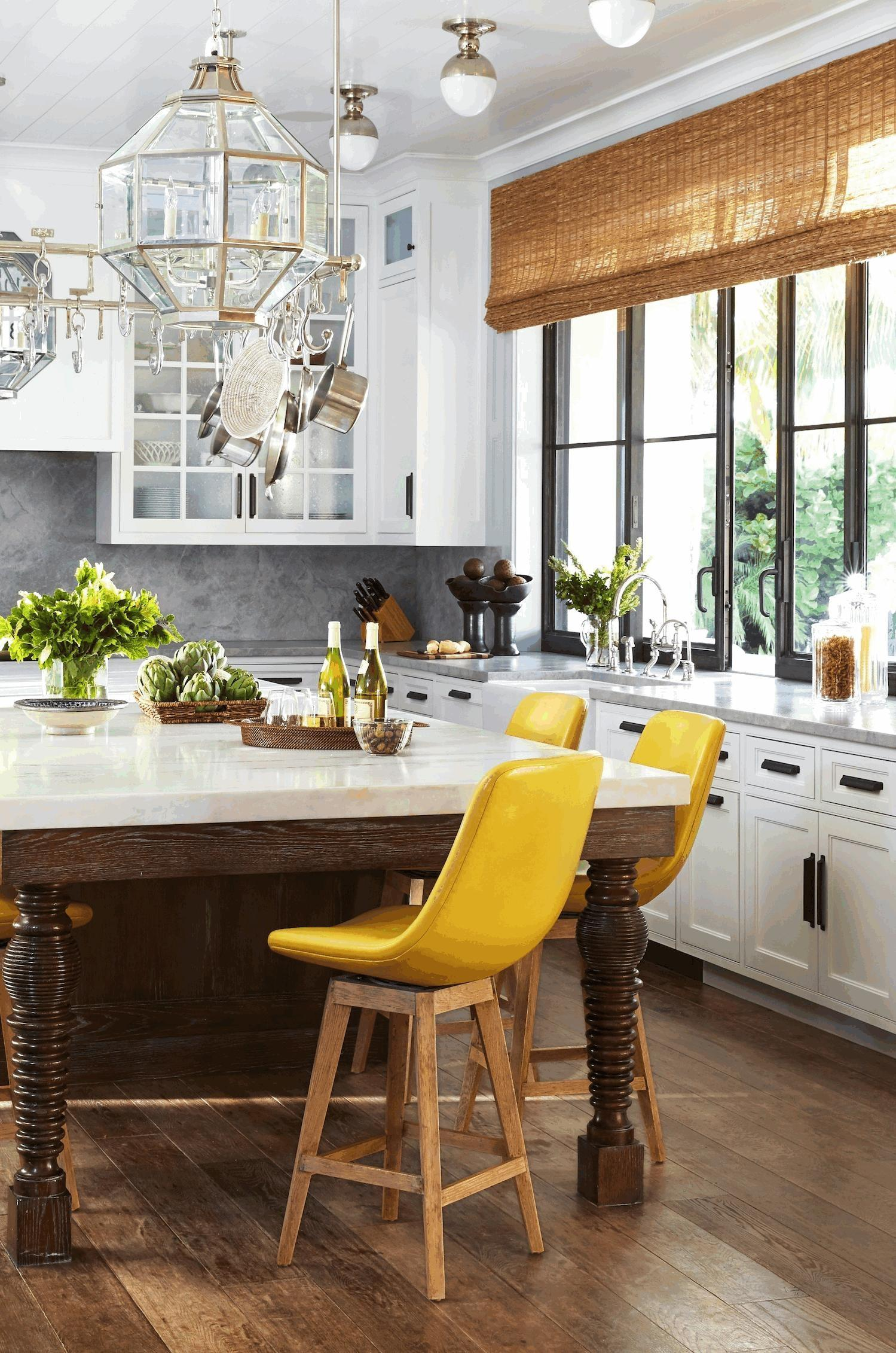 Yellow Dining Rooms Kitchen Tier Curtains Large Glass