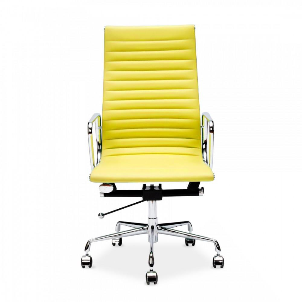 Yellow Eames Style Ribbed Office Chair Executive Chairs