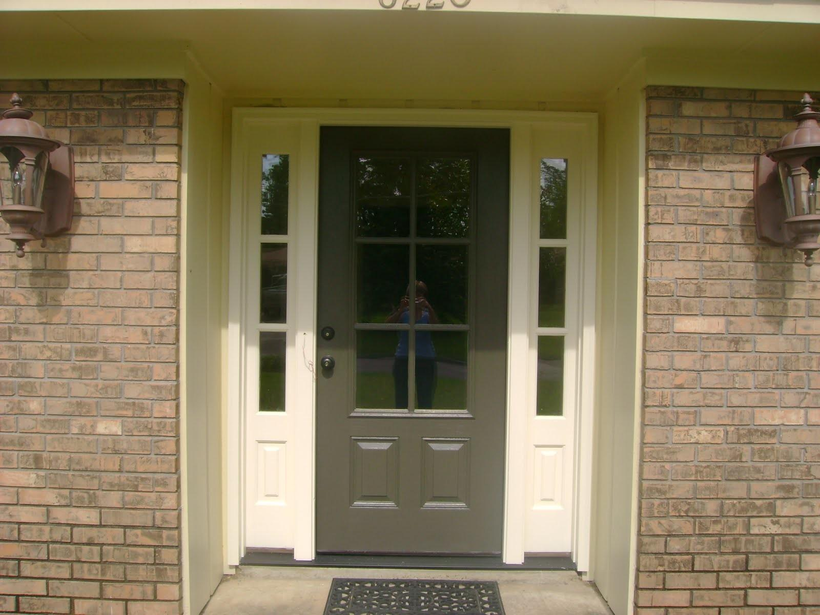 Yellow Front Door Color Brick House Rectangle