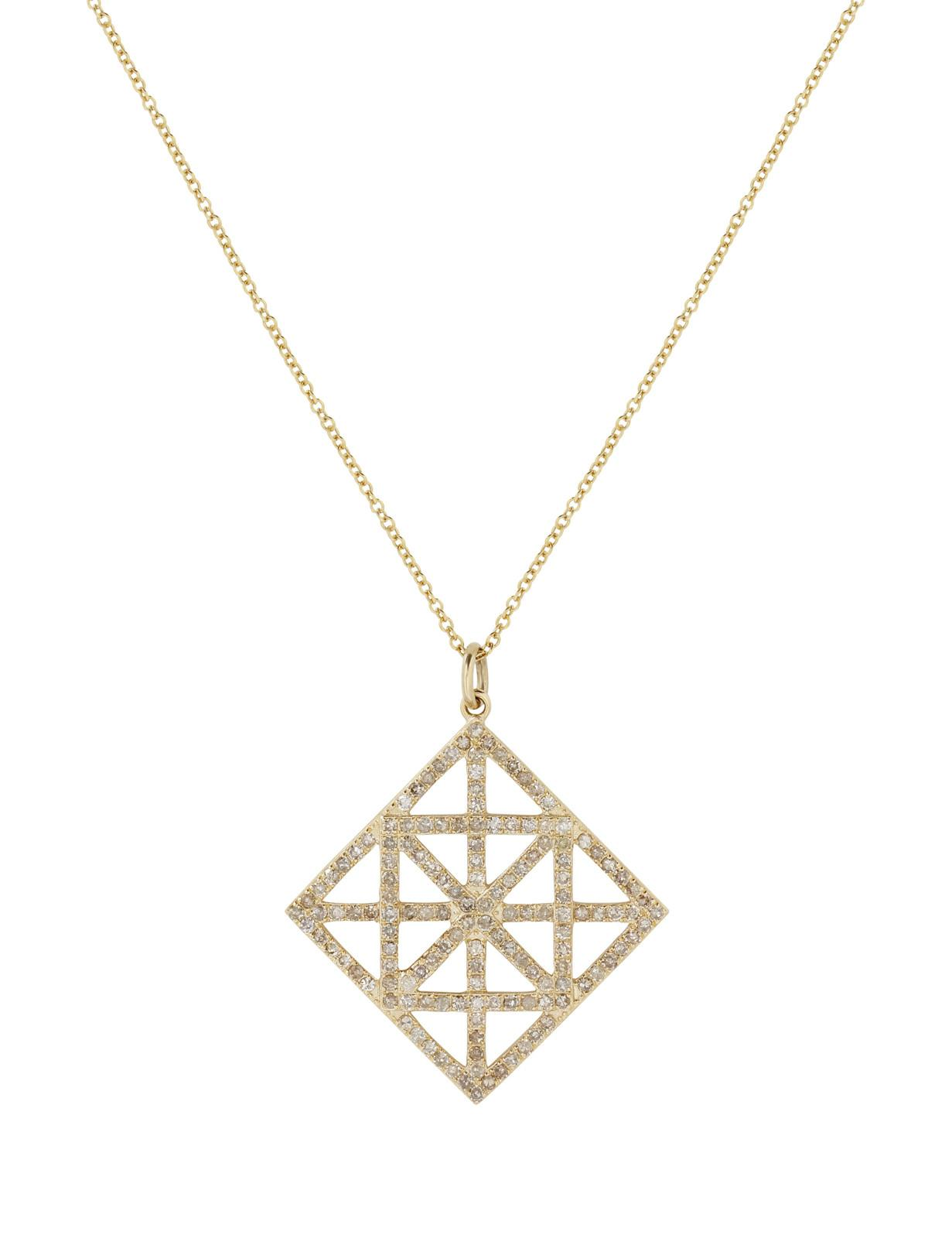 Yellow Gold Diamond Geometric Necklace Siena Jewelry