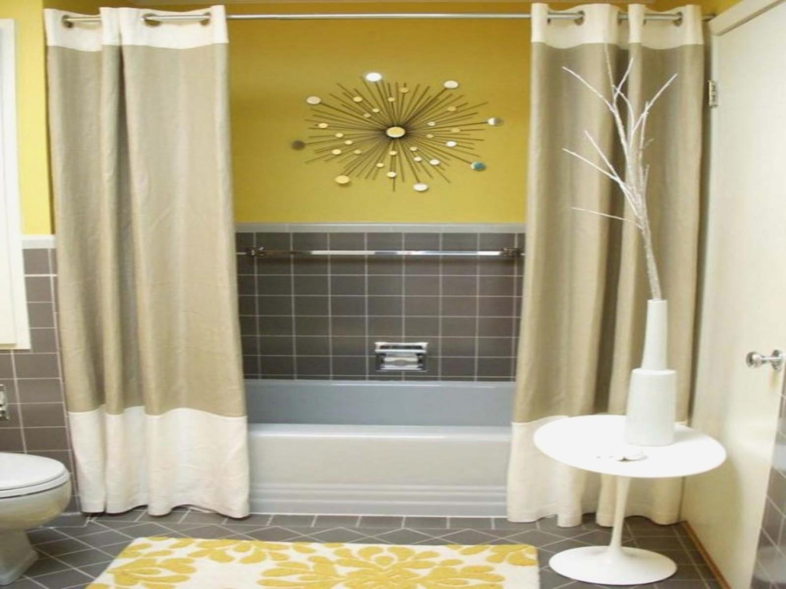 Yellow Gray Bathroom Best Decorations