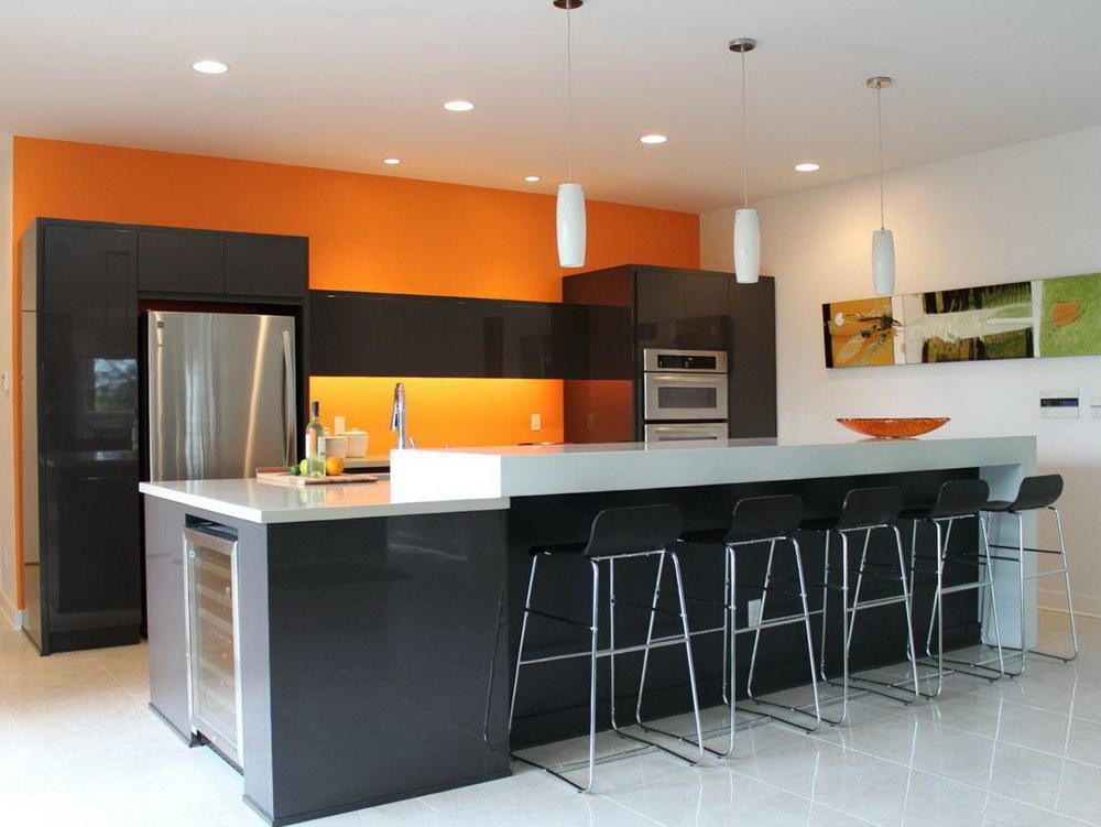 Yellow Kitchen Cabinets Grey Walls Home Design Ideas