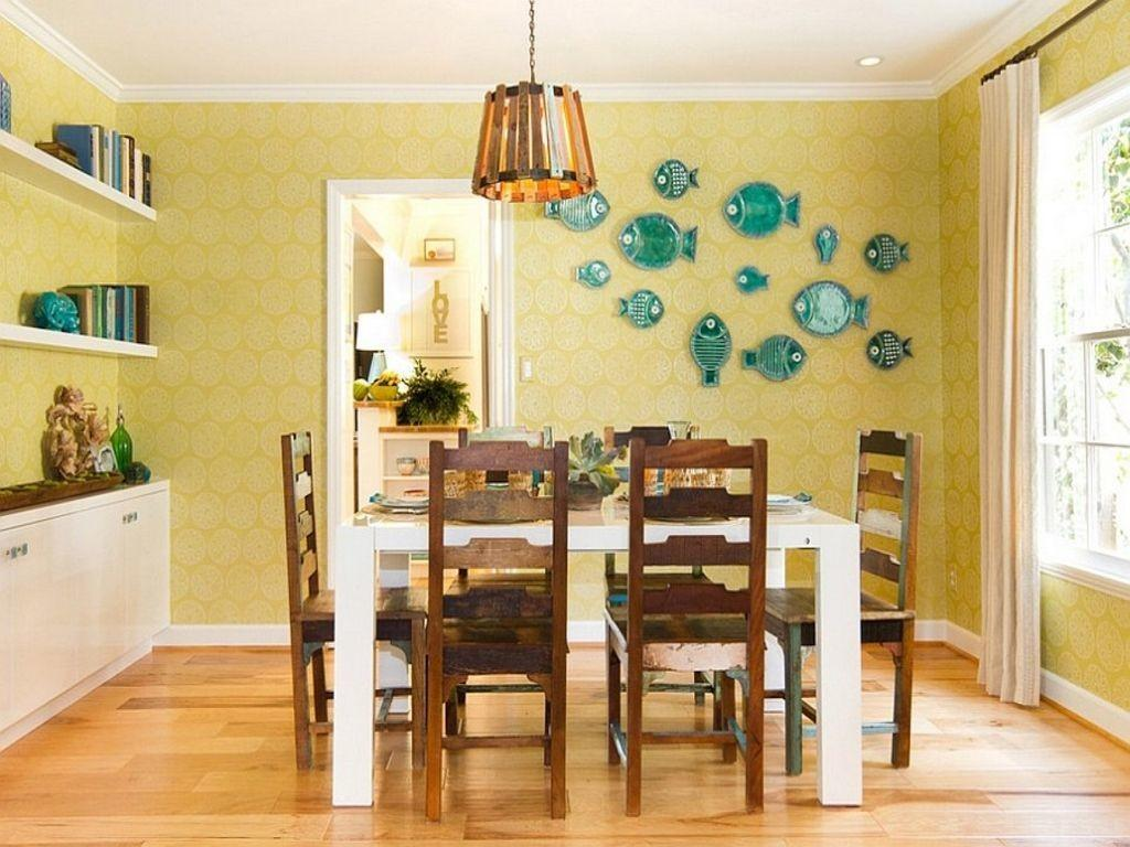 Yellow Painted Rooms Dining Room Decorating Creamy