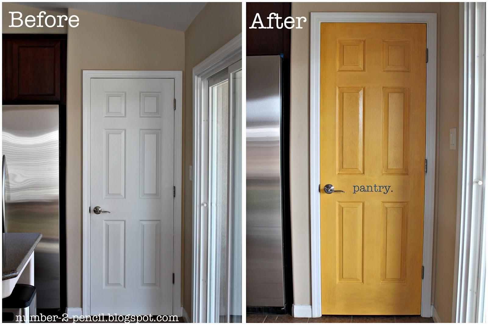 Yellow Pantry Door Makeover Pencil