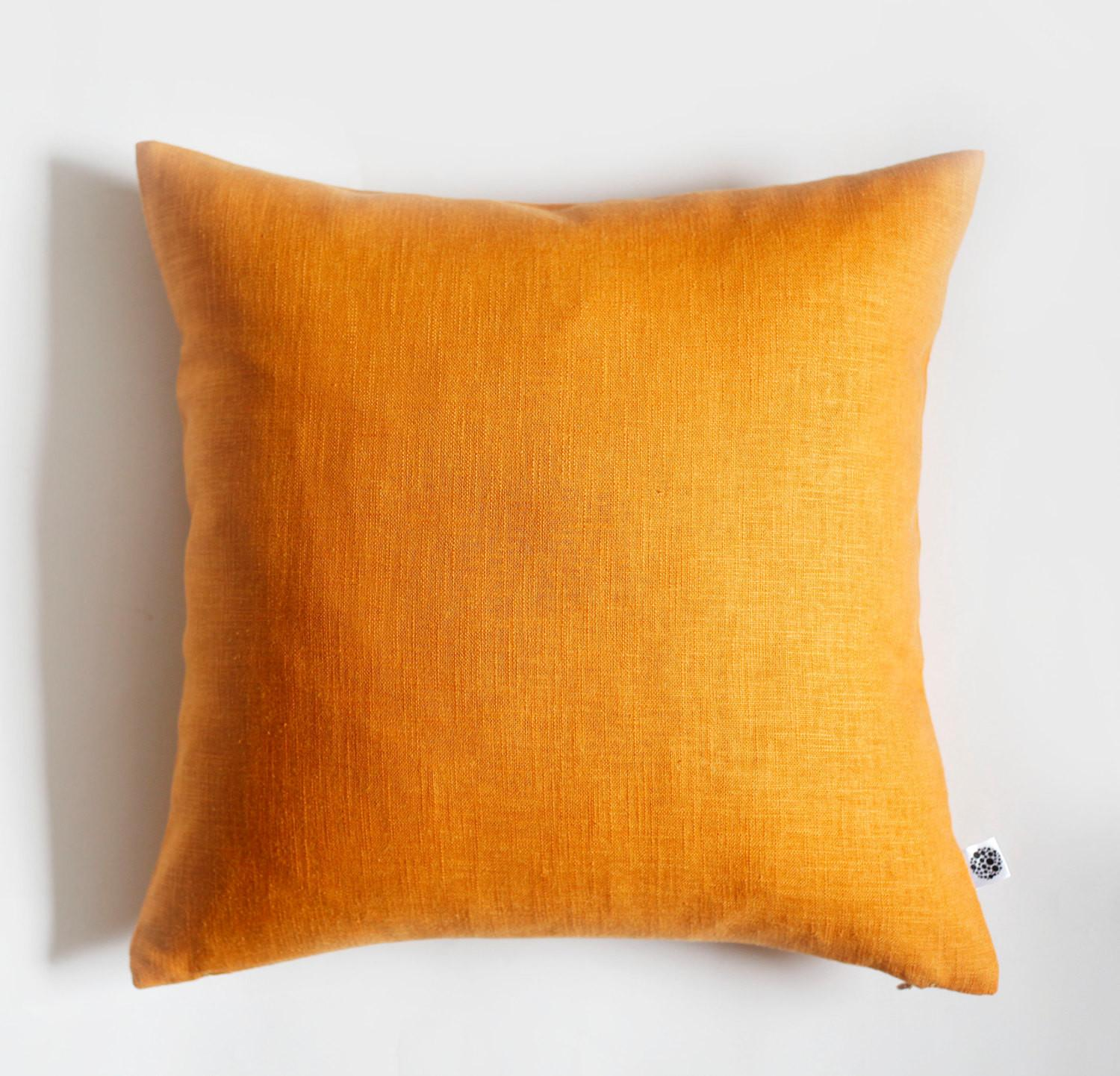 Yellow Pillow Cover Throw Pillows Spring Celebration Linen