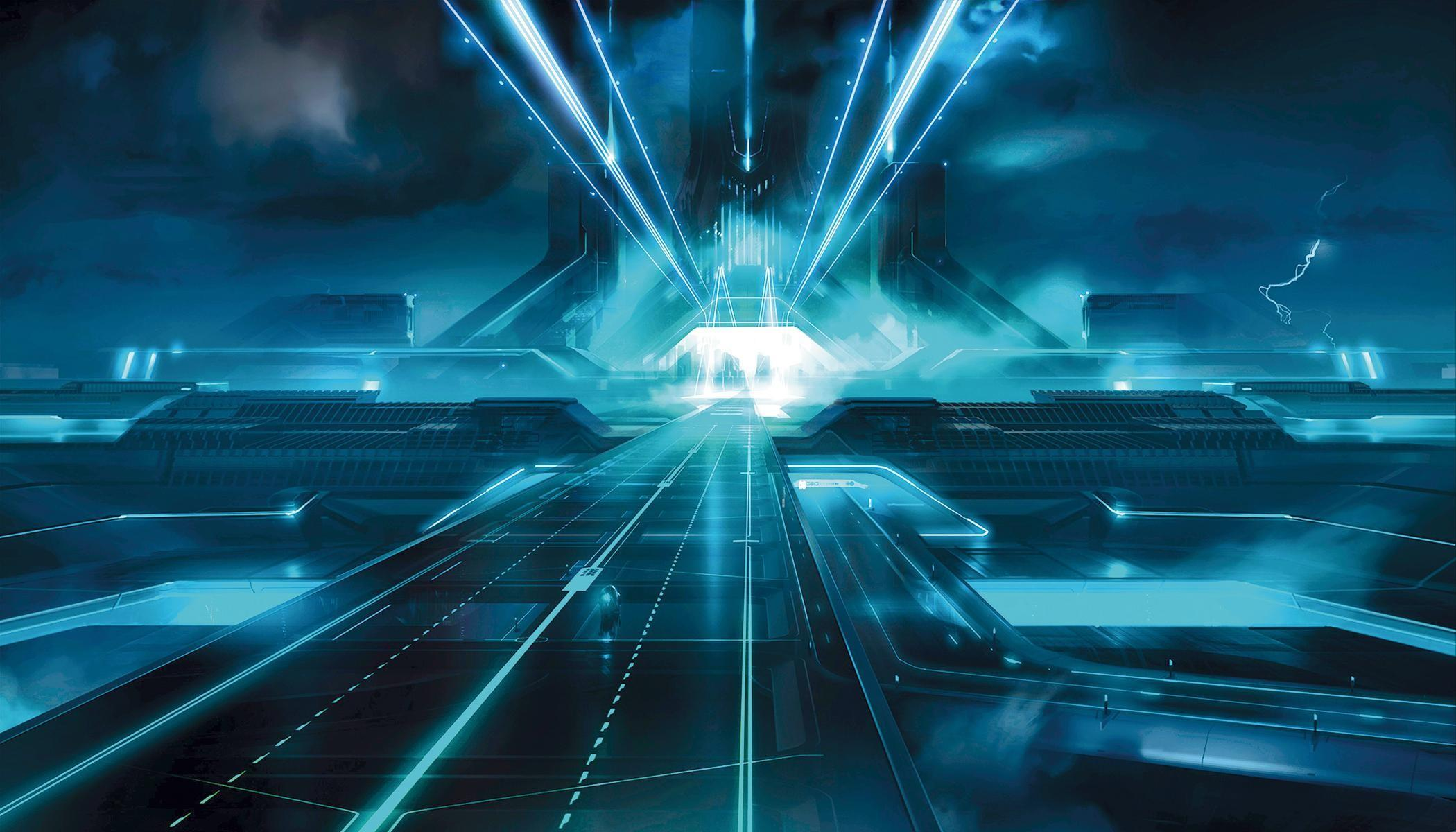 York Tron Legacy Wall Mural Interiordecorating