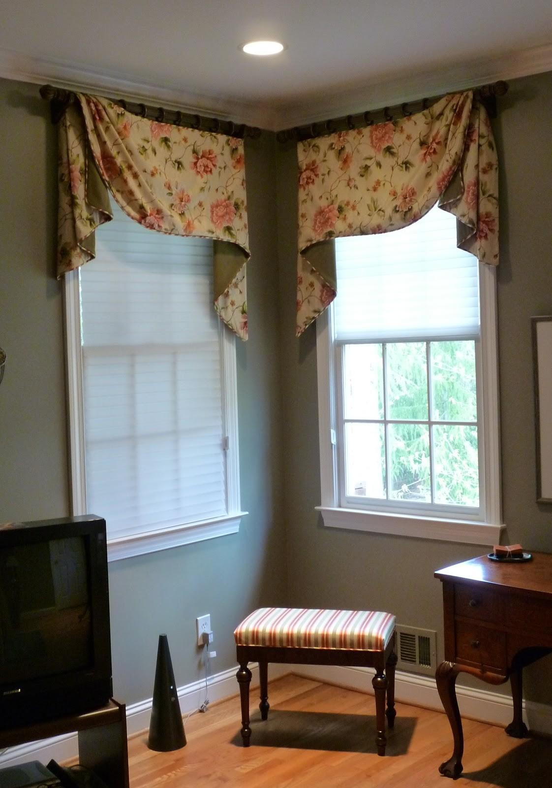 Youngblood Interiors Corner Window Treatments
