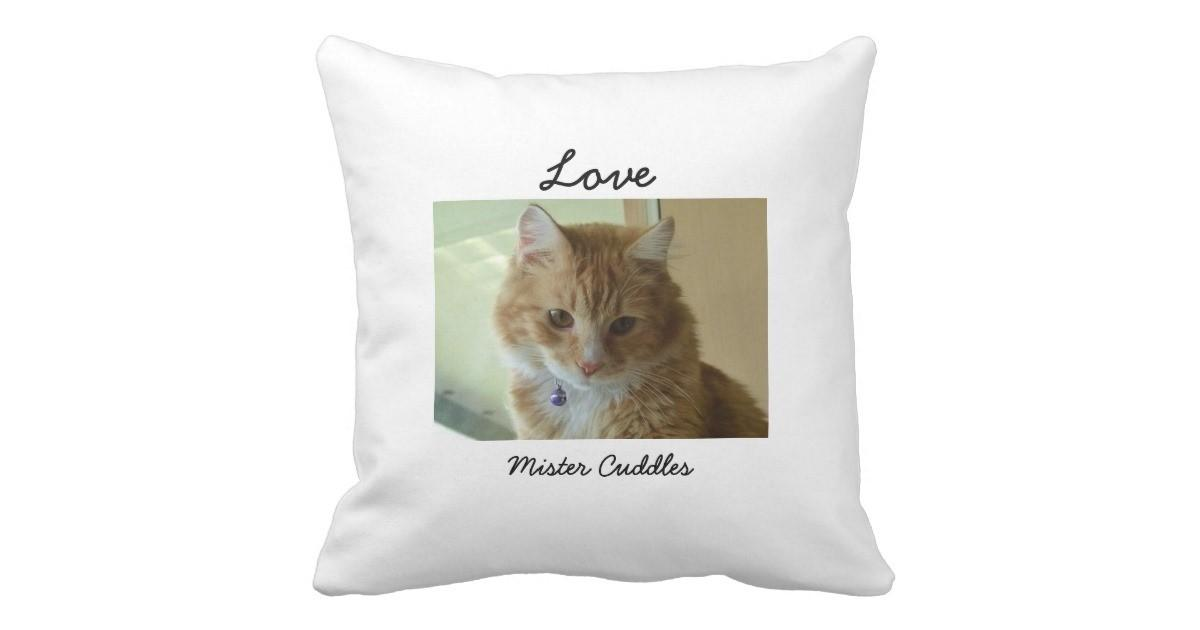 Your Cat Personalized Pillow Zazzle