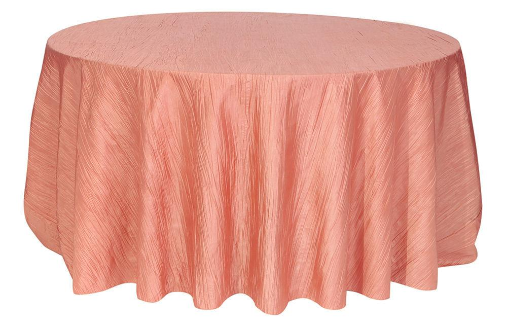 Your Chair Covers 132 Inch Round Crinkle Taffeta