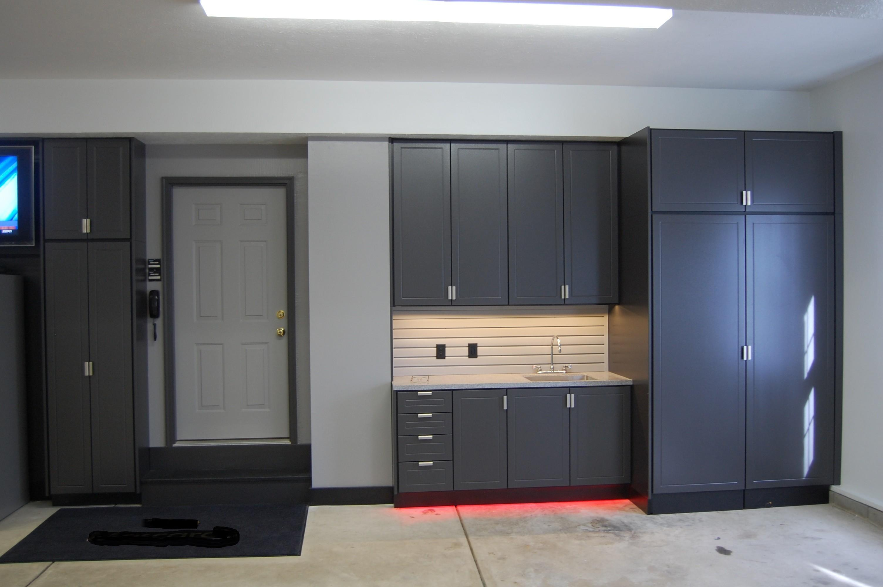 Yourself Garage Cabinets Easy Assembled Gray Modern