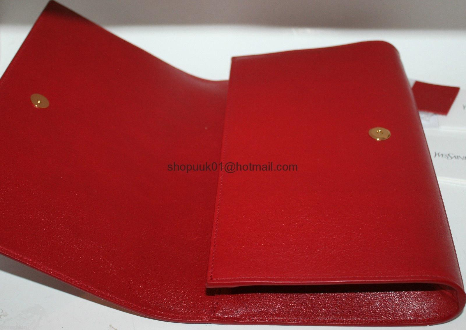 Ysl Belle Jour Clutch Red Yves Saint Lauren Bags