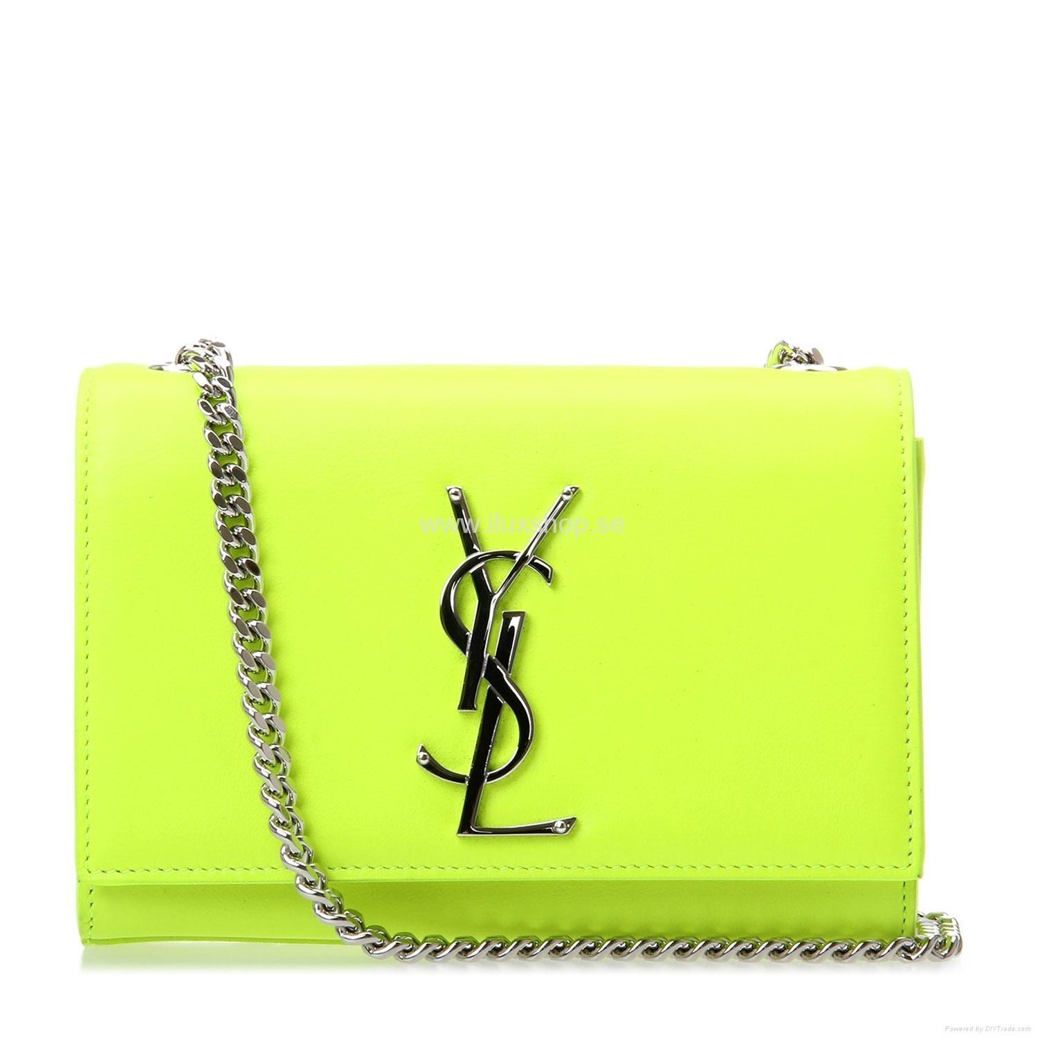 Ysl Wallet Purse Monogrammed Leather Clutch