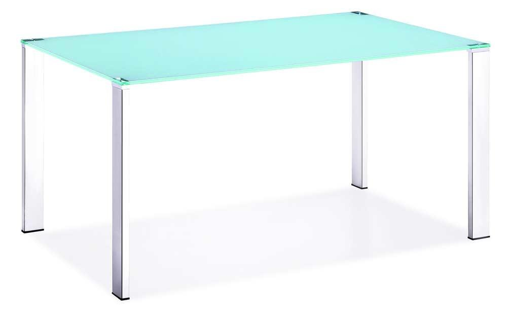 Z124 Sleek Tempered Glass Top Dining Table Modern