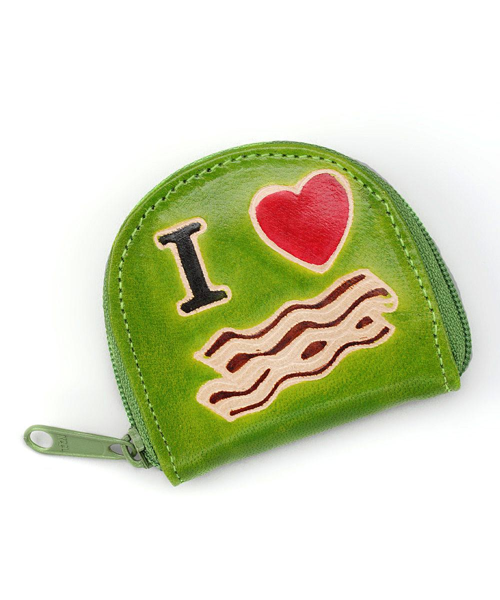Zad Lime Heart Bacon Leather Coin Purse Zulily